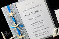 beach wedding invitation diy kit urban starfish silver invite 25 pcs ebay