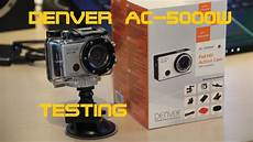 unboxing and testing denver ac 5000w actioncam