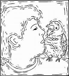 junge mit vogel 3 ausmalbild malvorlage tiere