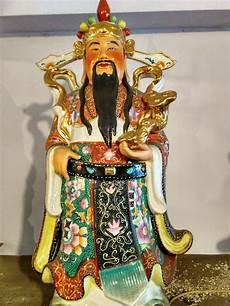 Jual Patung Budha Fu Lu Shou Keramik 23x75cm Dhammamanggala