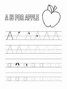 trace the letter a worksheets activity shelter