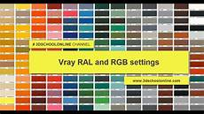 pantone in ral vray ral and rgb settings