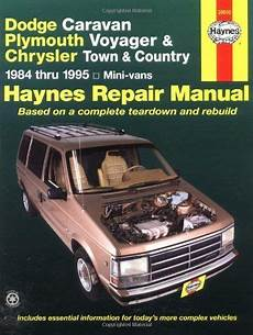 hayes auto repair manual 1995 plymouth grand voyager interior lighting dodge caravan plymouth voyager chrysler town country mini vans 1984 thru 1995 haynes repair