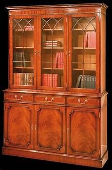 bibliothèque anglaise meuble biblioth 232 que anglaise en ronce d acajou longfield 1880