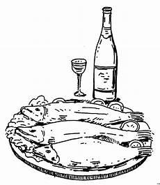 fisch serviert ausmalbild malvorlage essen und trinken
