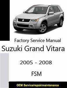 suzuki grand vitara factory service repair manuals