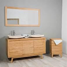 meuble salle de bain en teck vintage 140