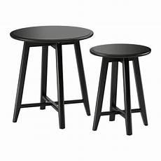kragsta nesting tables set of 2 black ikea