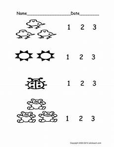 worksheet count groups of objects 1 3 ver 2 pre k primary teaching resources