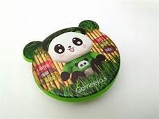 Earphone Headset Karakter Box jual kotak makanan anak motif panda warna hijau kotak