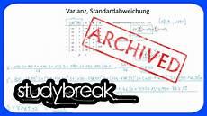 varianz standardabweichung formel deskriptive