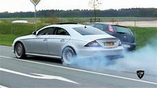 Cls 55 Amg - mercedes cls 55 amg burnout drag racing loud