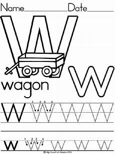 letter w worksheets for pre k 23711 alphabet letter w wagon standard block manuscript handwriting practice worksheet preschool