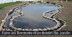 comment faire les bordures d un bassin de jardin toile
