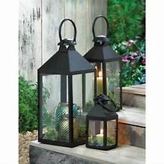 revere black metal pillar candle lantern candleholder