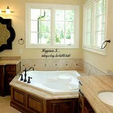 Garden Bathroom Ideas Happiness Is Taking A Bath Vinyl Wall