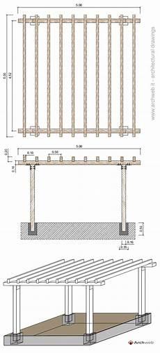 tettoie dwg tettoia in legno
