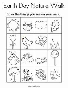 nature walk worksheet preschool 15153 earth day nature walk coloring page twisty noodle in 2020 earth day coloring pages