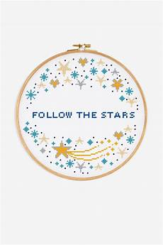 free cross stitch patterns stars follow the stars pattern free cross stitch patterns dmc
