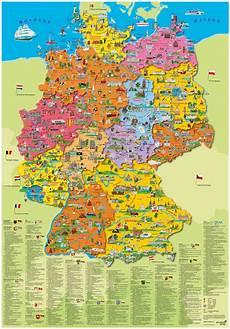 Kinder Malvorlagen Deutschlandkarte Wandkarte Deutschland Mit Einzelnen Bundesl 228 Ndern