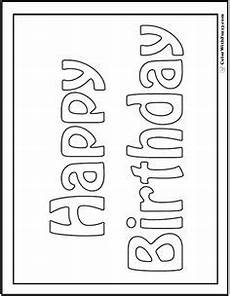 neu ausmalbilder happy birthday malvorlagen