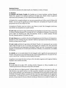 simbolos patrios y naturales del estado guarico s 237 mbolos patrios y naturales del estado trujillo