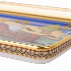 Hermes Tray Cheval D Orient Porcelain Small Model At 1stdibs