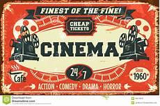 Cinema Theatre On Vintage Cinema
