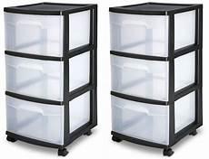 3 Drawer Plastic Rolling Cart Storage Box Sterilite