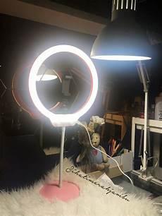 Led Ring Light Dengan Handphone Holder Dan Cermin