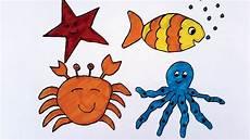 Biota Laut Gambar Hewan Laut Kartun Ideku Unik
