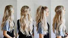 easy hairstyles to keep hair out of face 4 quick go to half up styles keep hair out of your face youtube