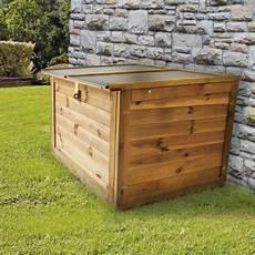 caisse pour bois de chauffage coffre de jardin en bois fsc trait 233 autoclave trocadero 440l