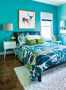 Aqua And Grey Bedroom Ideas by Room Envy This Bright Turquoise Bedroom Is A
