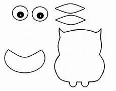 eule basteln vorlage scrap paper owl craft our kid things