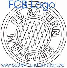 ausmalbild fc bayern logo basteln rund ums jahr