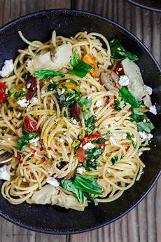 simple mediterranean olive oil pasta the mediterranean dish