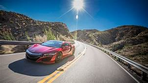 Wallpaper Acura NSX Red 2017 4K Automotive / Cars 9583