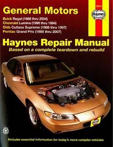what is the best auto repair manual 2007 subaru tribeca windshield wipe control haynes gm buick regal 88 04 chevrolet lumina 90 94 oldsmoblile cutlass supreme 88 97 pontiac