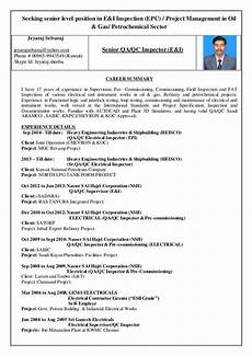 resume format for freshers electrical engineers free