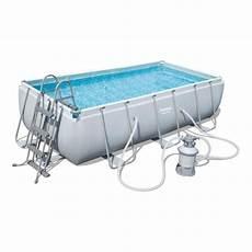bestway kit piscine rectangulaire tubulaire l4 04 x l2 01