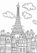 Eiffel Tower Ratatouille Coloring Page  Download & Print