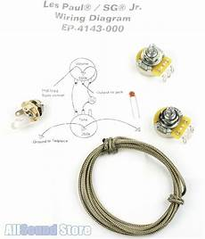 Epiphone Le Paul Jr Wiring Diagram by Wiring Kit For Gibson 174 Les Paul Sg Jr Complete W Diagram