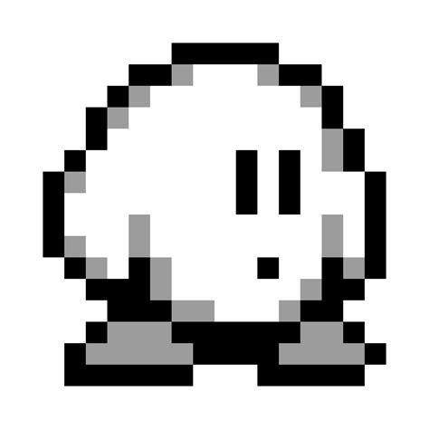 Kirby Pixel Art Grid