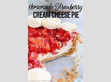 cream cheese strawberry pie_image