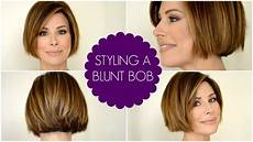 how to style a blunt bob youtube