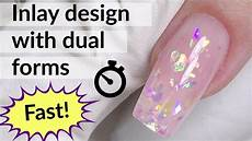 Glitter Nail With Dual Forms Polygel Tutorial