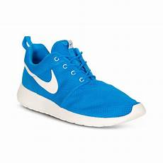 nike roshe run sneakers in blue for blue sail
