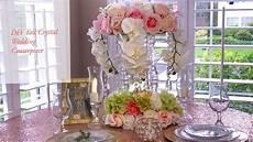 diy tall tower crystal wedding centerpiece dollar tree youtube