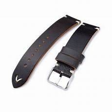 20mm 21mm 22mm Calf Leather by 20mm 21mm 22mm Miltat Brown Genuine Calf Leather